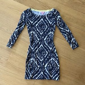 Lilly Pulitzer XS Navy Blue Coral Dress